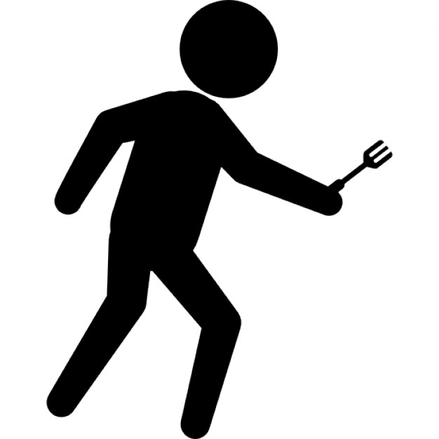 626x626 Criminal Walking Silhouette With An Arm In His Hand Icons Free