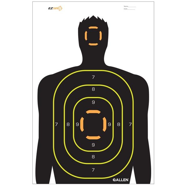 640x640 Ez Aim Silhouette Target