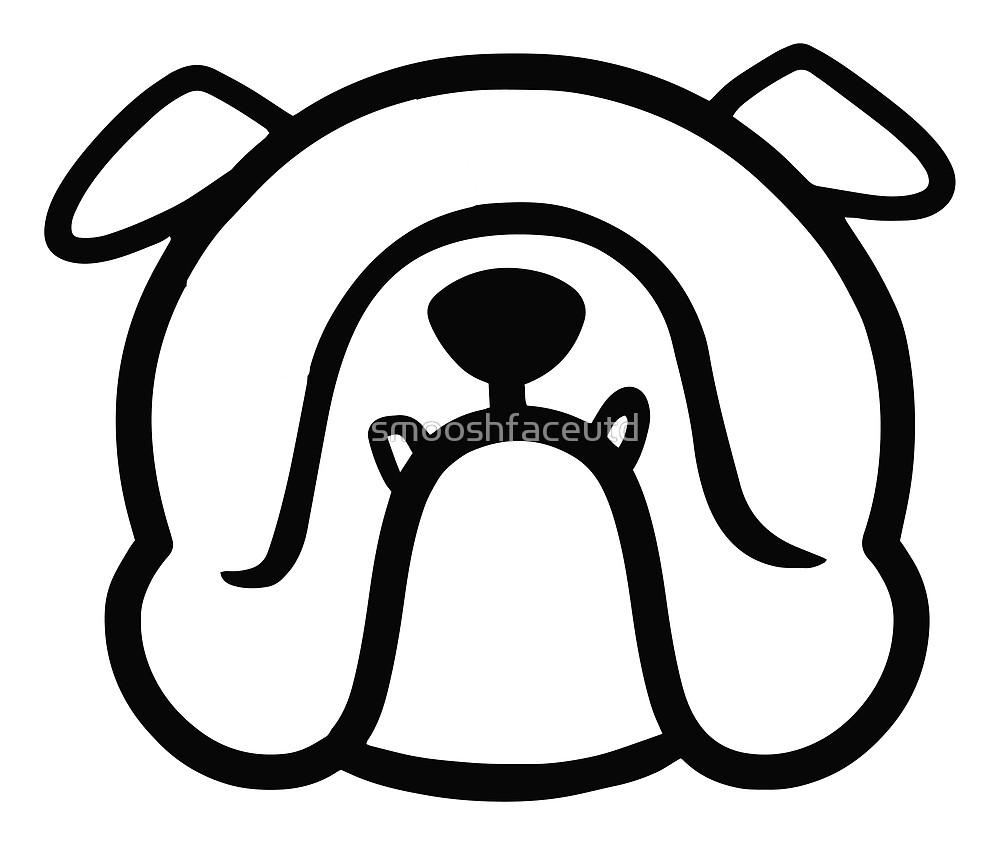 1000x845 English Bulldog Face Silhouette