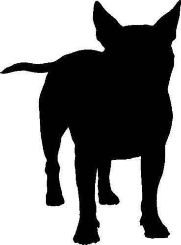 369x500 English Bull Terrier Dog Silhouette Car Decal Sticker Dog