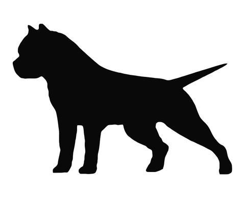 480x389 American Bully Pit Bull Dog Silhouette Die Cut Vinyl Decal Sticker