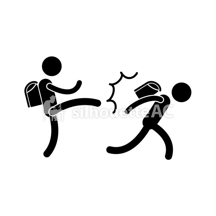 750x750 Free Silhouette Vector Bullying, Icon