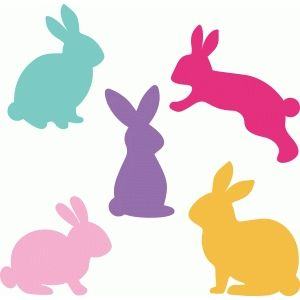 300x300 Easter Bunny Head Silhouette Clipart Collection
