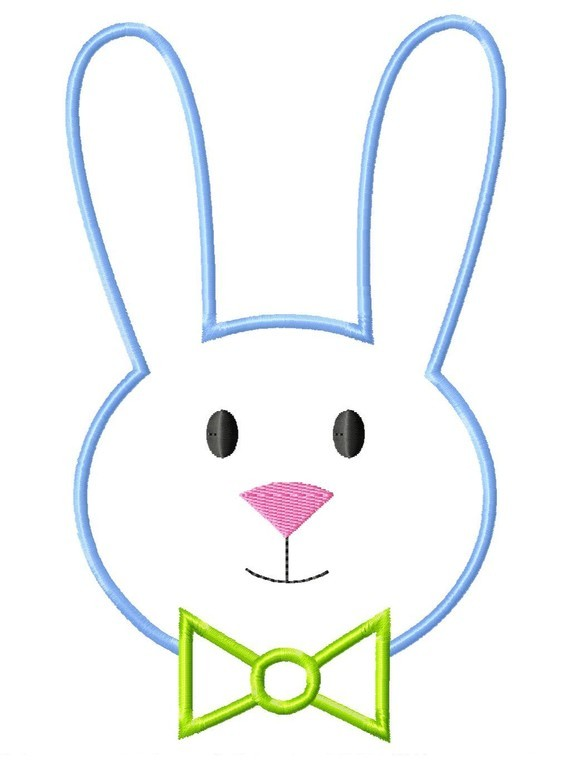 570x762 Easter Rabbit Face Clipart Eyes