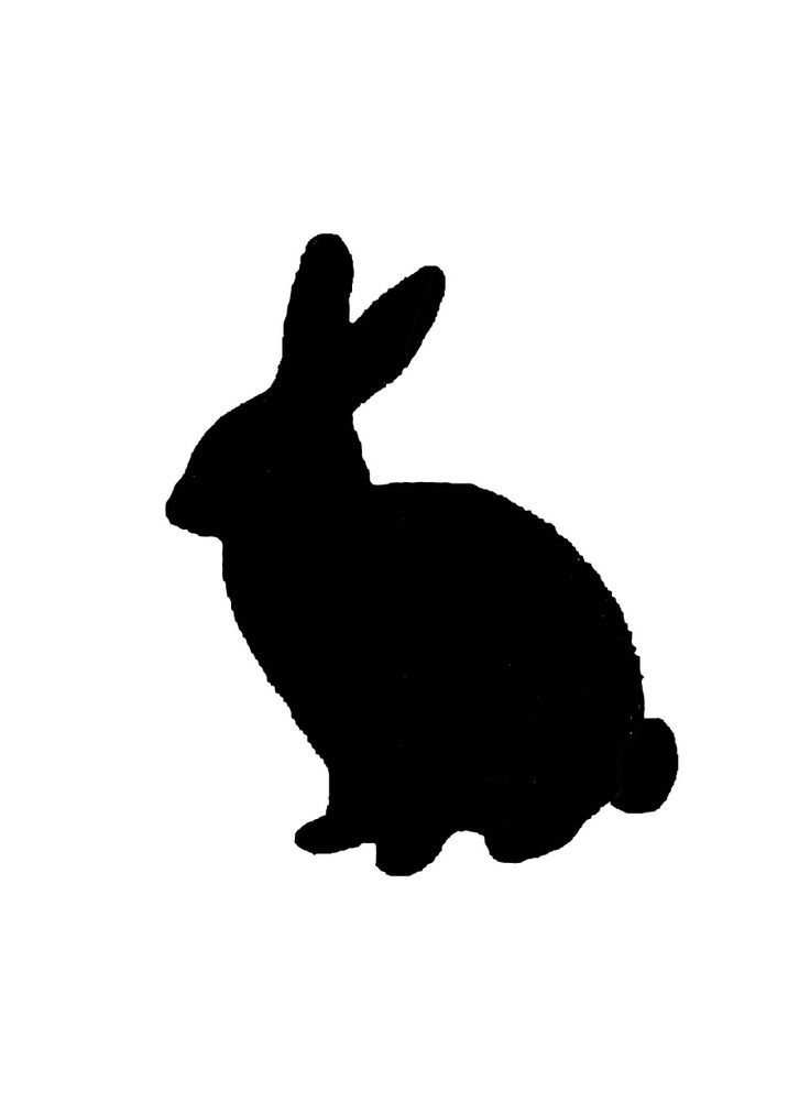 736x1011 27 Images Of Bunny Silhouette Template
