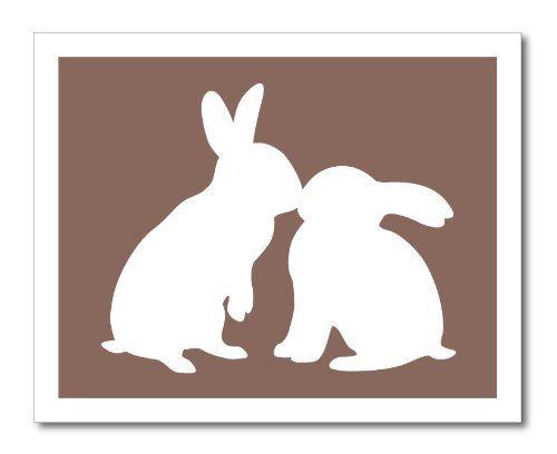 500x408 Bunny Rabbits Kiss Silhouett Easter Amp Spring Bunny