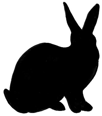 400x455 Bunny Silhouette Lillian Shall Make) Craft Ideas