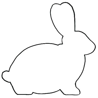 400x401 Outline Of Bunny Outline Rabbit Images Printable Coloring Bunny