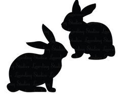 236x187 Rabbit Silhouette Spring Decor Rabbit, Silhouettes