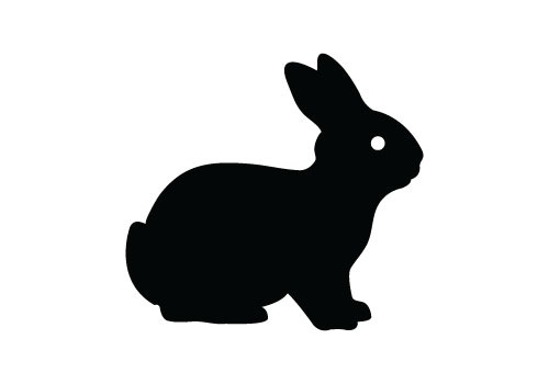 500x350 15 Easter Bunny Silhouette Vector Images
