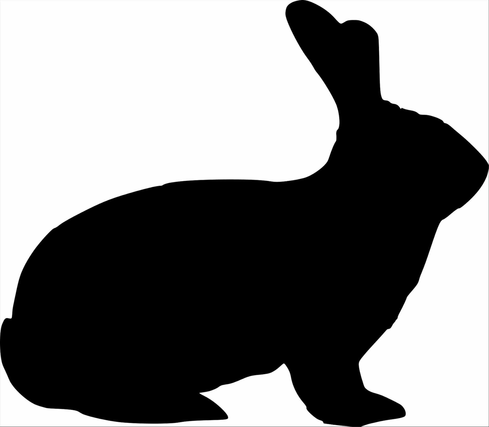 1900x1661 Pencil Easter Bunny Silhouette Clipart And In Color Rabbit Rabbit