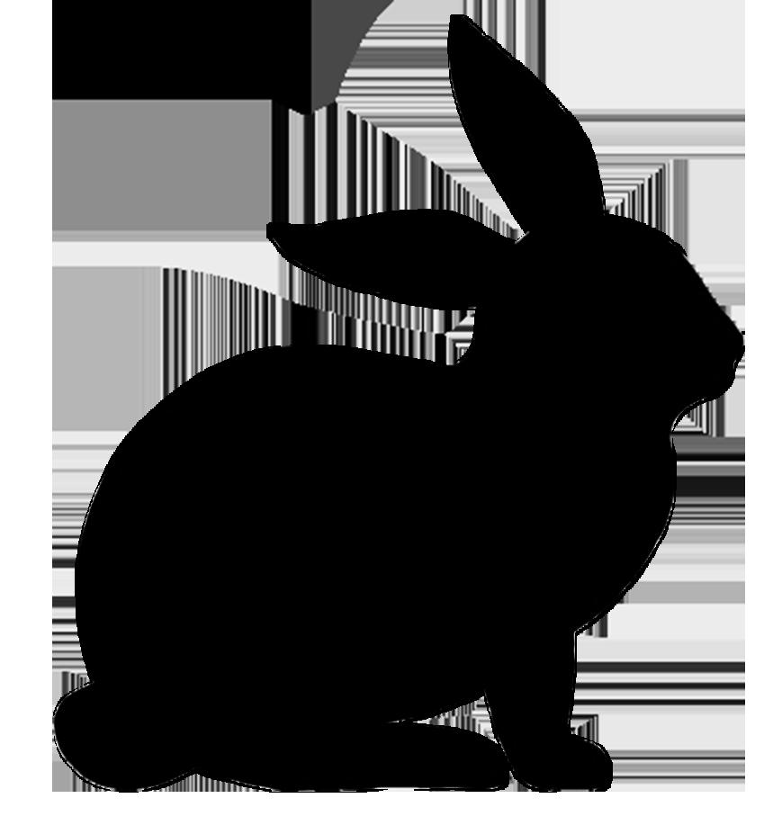 869x917 Rabbit Silhouette