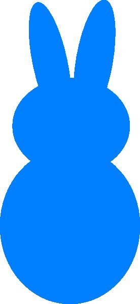 276x598 Blue Dark Peep Bunny Clip Art