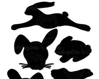 340x270 Rabbit Silhouette Rabbit Clipart Animal Clip Art Wild