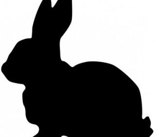 336x280 Vector Rabbit Silhouette Vector Clip Art