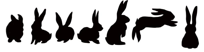 800x206 Bunny Silhouette Clipart Related Images