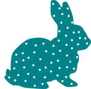 300x294 Bunny Polka Dot Silhouette Clip Art Basteln Clip