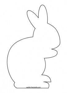 217x300 Bunny Silhouette Template Photo Outline Of A Happy Bunny