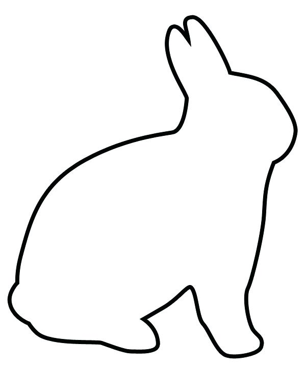600x727 Bunny Silhouette Template Photo Outline Of A Happy Bunny Bunny