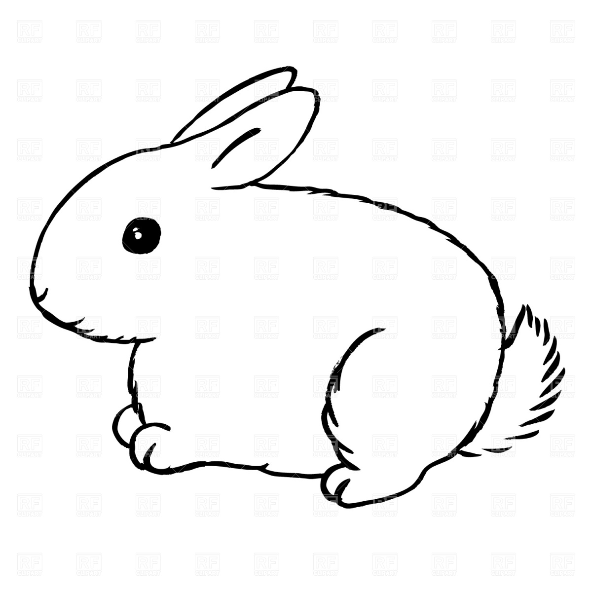 Bunny Silhouette Outline At Getdrawings Free For Personal Use