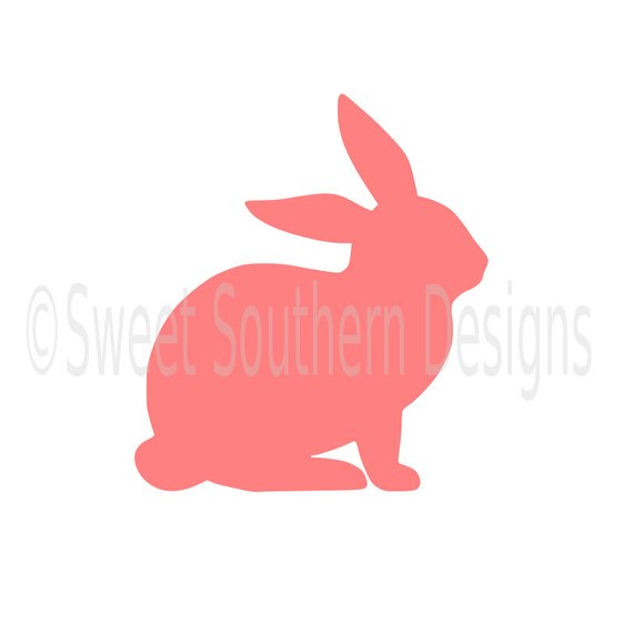 570x570 Bunny Rabbit Outline Easter Spring Svg Dxf Instant Download