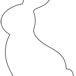 graphic relating to Bunny Outline Printable named Bunny Silhouette Determine at  No cost for