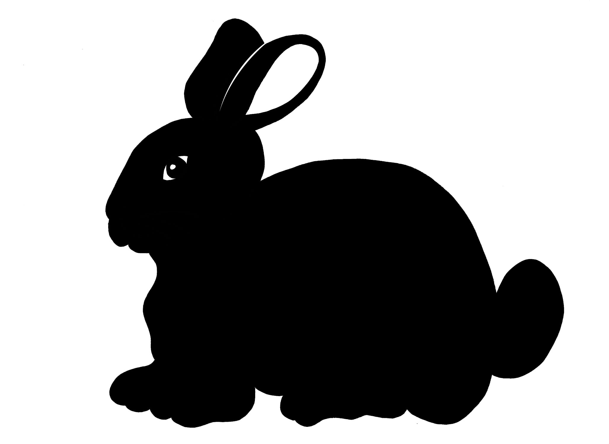 2055x1500 Easter Bunny Silhouette Outline Of Objects Christmas Card