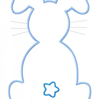 Bunny Silhouette Outline at GetDrawings.com | Free for personal use ...