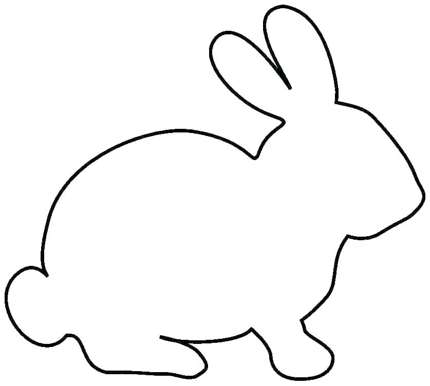 Bunny Silhouette Outline at GetDrawings | Free download
