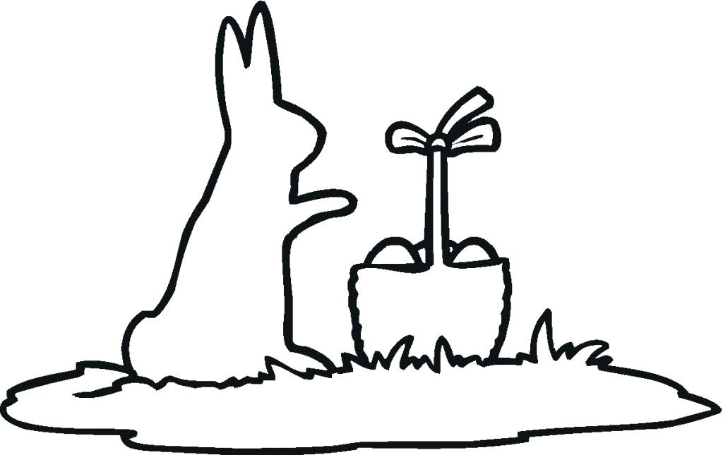 1024x645 Bunny Ears Templates Happy Free Coloring Bunny Silhouette Outline