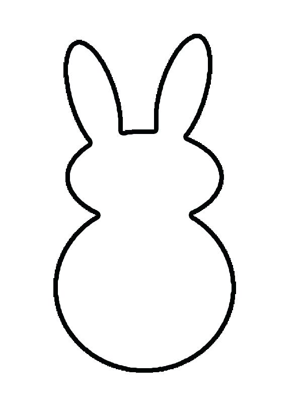 600x820 Bunny Outline Printable Rabbit Outline Template Printable Bunny