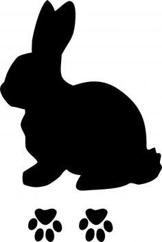 236x351 Bunny Silhouette Printable