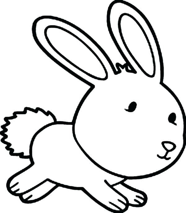 600x686 Bunny Outline Printable Bunny Outline Coloring Marvelous Bunny