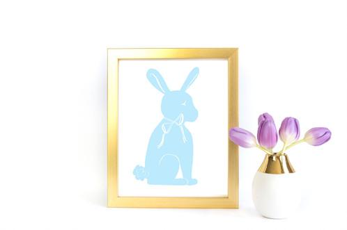 498x331 Bunny Silhouette Printable