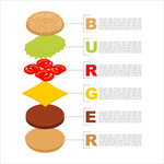 150x150 Hamburger Silhouette. Fast Food In Flat Style. Royalty Free Vector