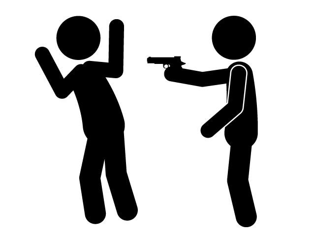 640x480 Burglar With A Pistol Robbery Crime Pictogram Free
