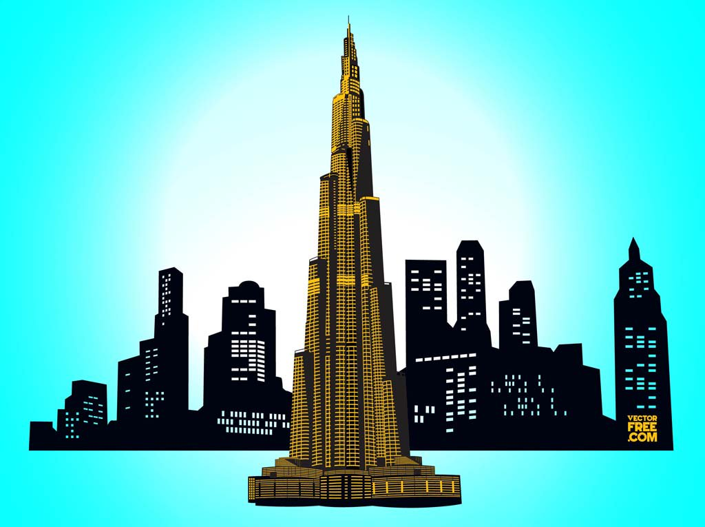 1024x765 Downtown Dubai Vector Art Amp Graphics