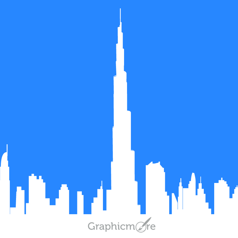 800x800 Burj Khalifa Free Vector File Download By Graphicmore