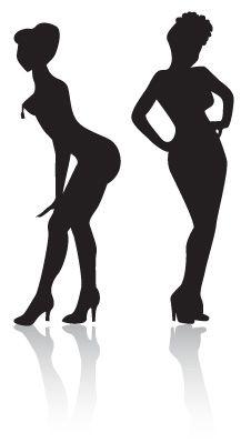 226x399 Burlesque Clip Art