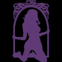 265x265 Burlesque Ladies In Art Nouveau Frame
