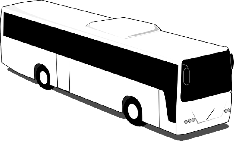 800x483 Black, Outline, Silhouette, Trip, White, Cartoon, Bus