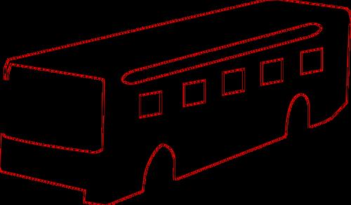 500x293 Bus Silhouette Vector Drawing Public Domain Vectors