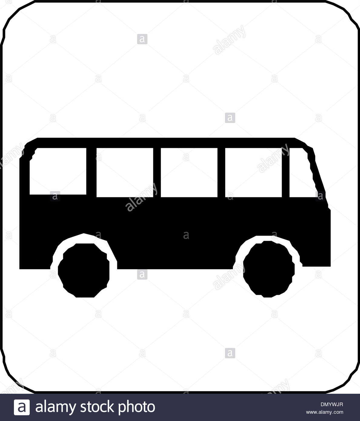1189x1390 Black Silhouette On A Bus. Vector Illustration Stock Vector Art
