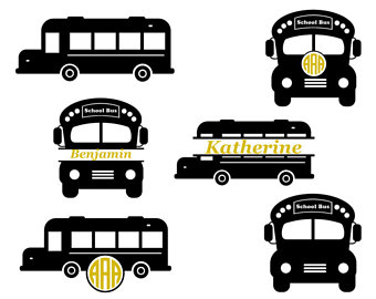 340x270 School Bus Monogram Etsy