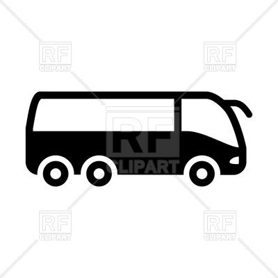 400x400 Silhouette Of Bus Royalty Free Vector Clip Art Image