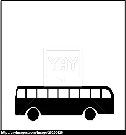 480x512 Vector City Bus Silhouette Vector