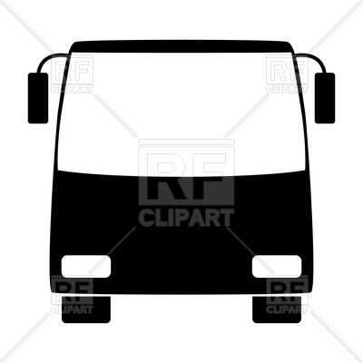 400x400 Bus Silhouette Royalty Free Vector Clip Art Image