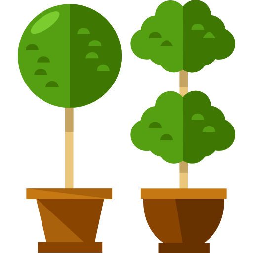 512x512 Plants, Trees, Silhouette, Tree, Nature, Shape, Ground, Plant Icon