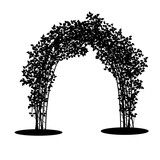160x160 Silhouette Bush With Leaves And Shadow Stock Image And Royalty