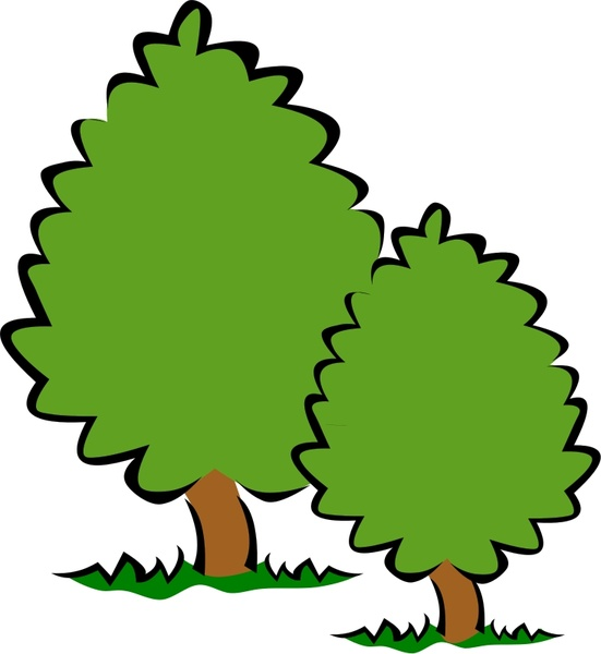 551x600 Small Trees Bushes Free Vector In Open Office Drawing Svg ( Svg